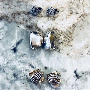 ❗️Set of 3 Clip On Earrings